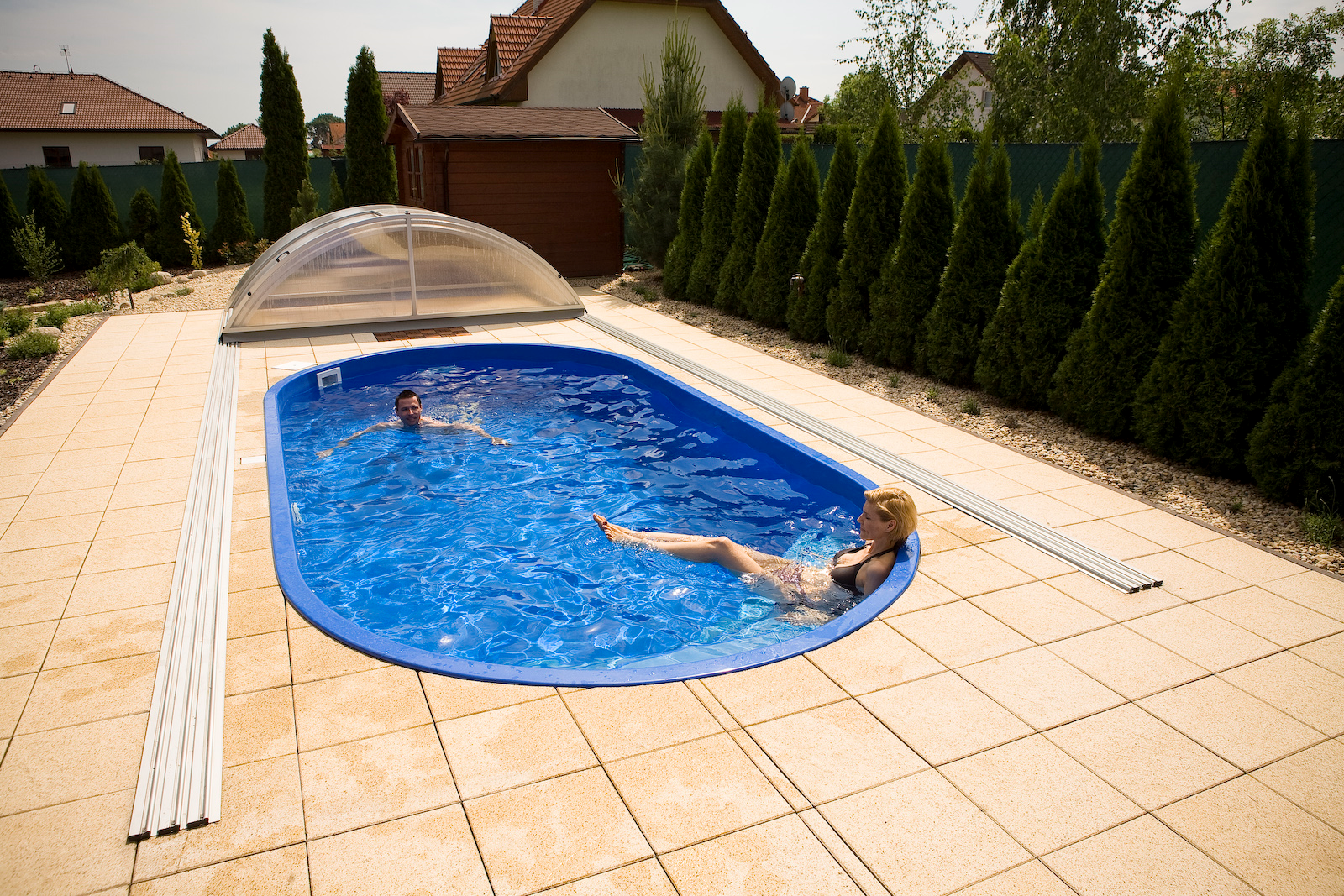 Polyester pools - Gfk pool komplettset ...