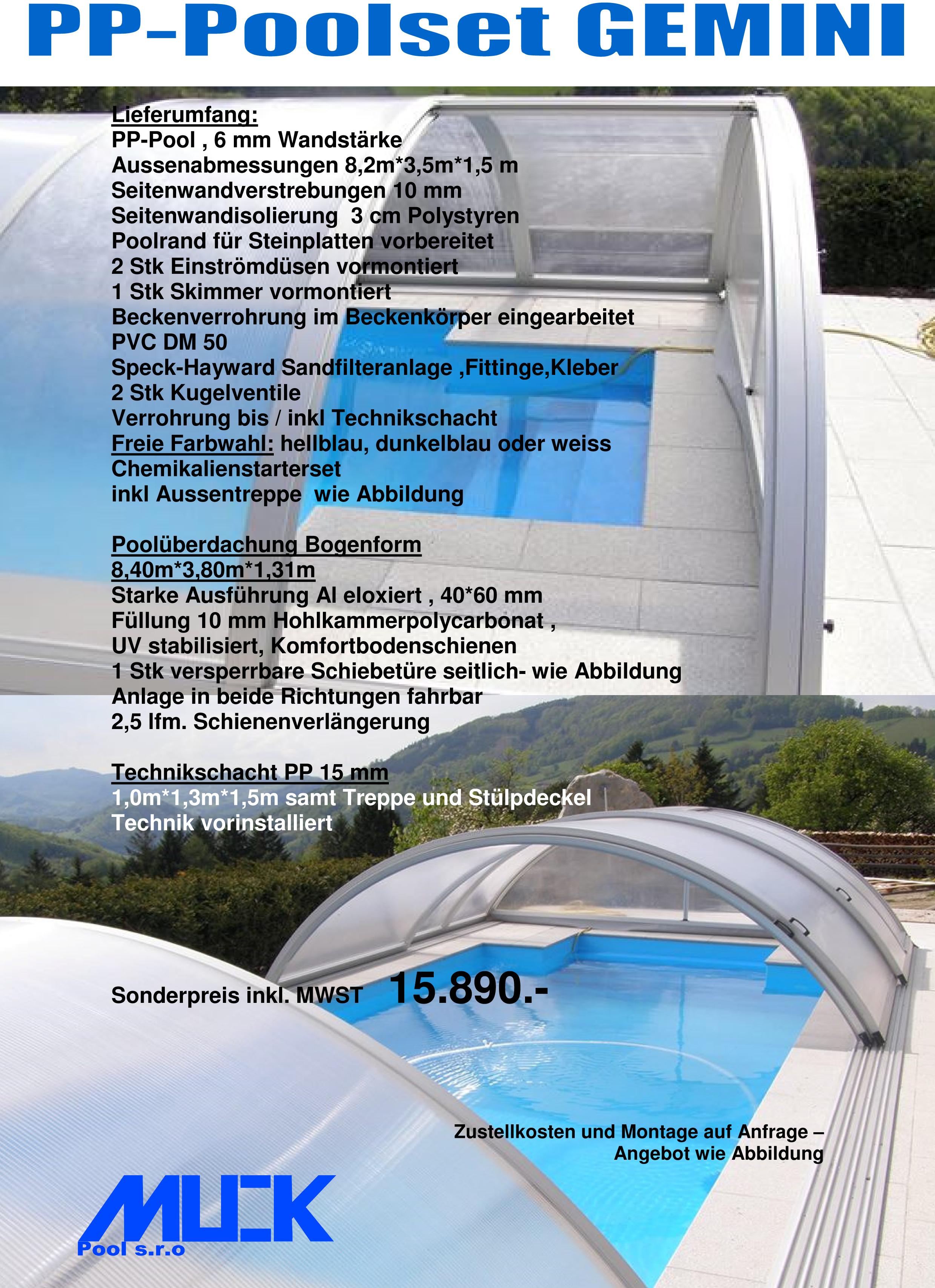 polyester pool set schwimmbad und saunen. Black Bedroom Furniture Sets. Home Design Ideas